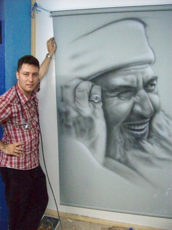 Sketch on Curtain