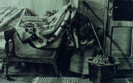 "CLEANLINESS IN THE SALON ""Pen Sketch"" (2001)"