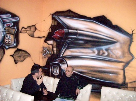 Mural from Cockpit Cafe