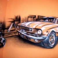 mustang_car_mural_by_great_master