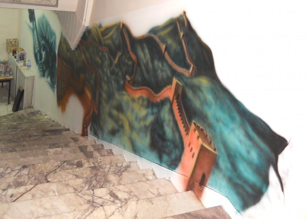 china great wall mural