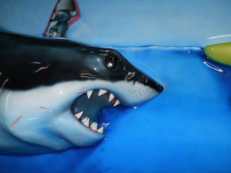 Great White Shark (High Relief Painting)