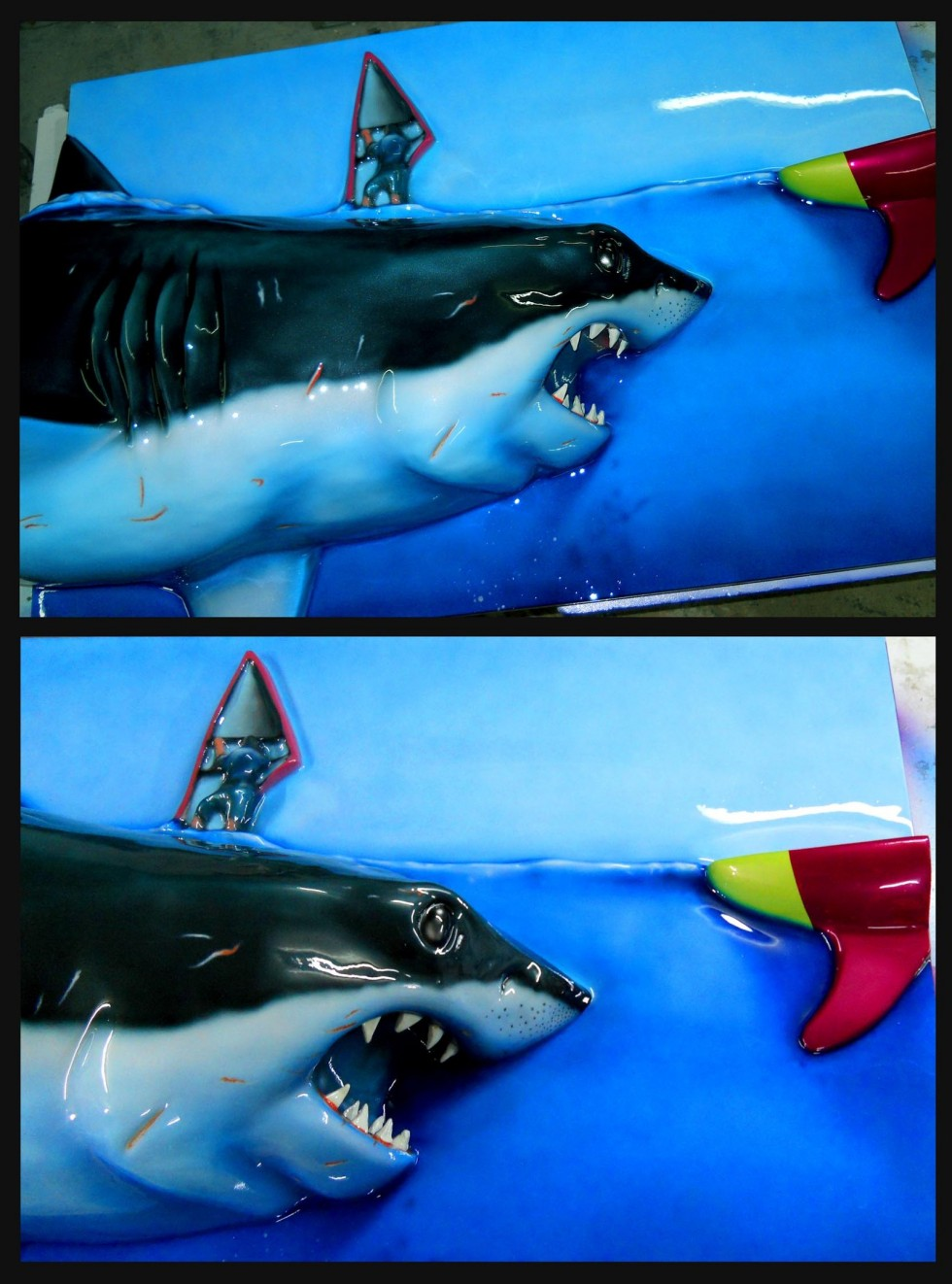 great_white_shark_relief_painting_detail