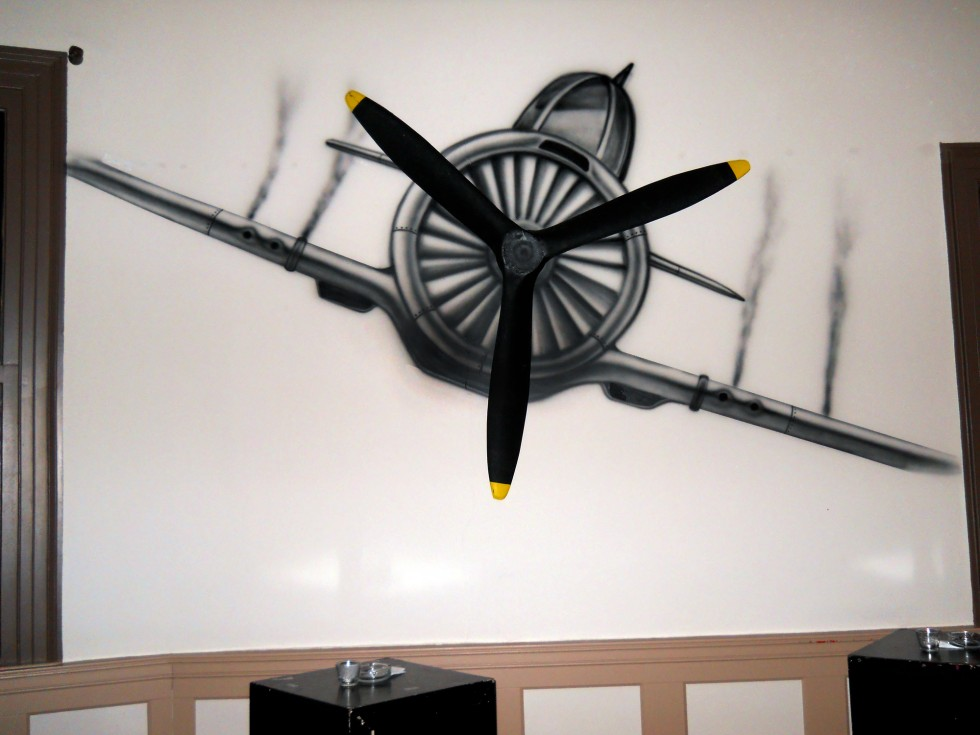plane mural