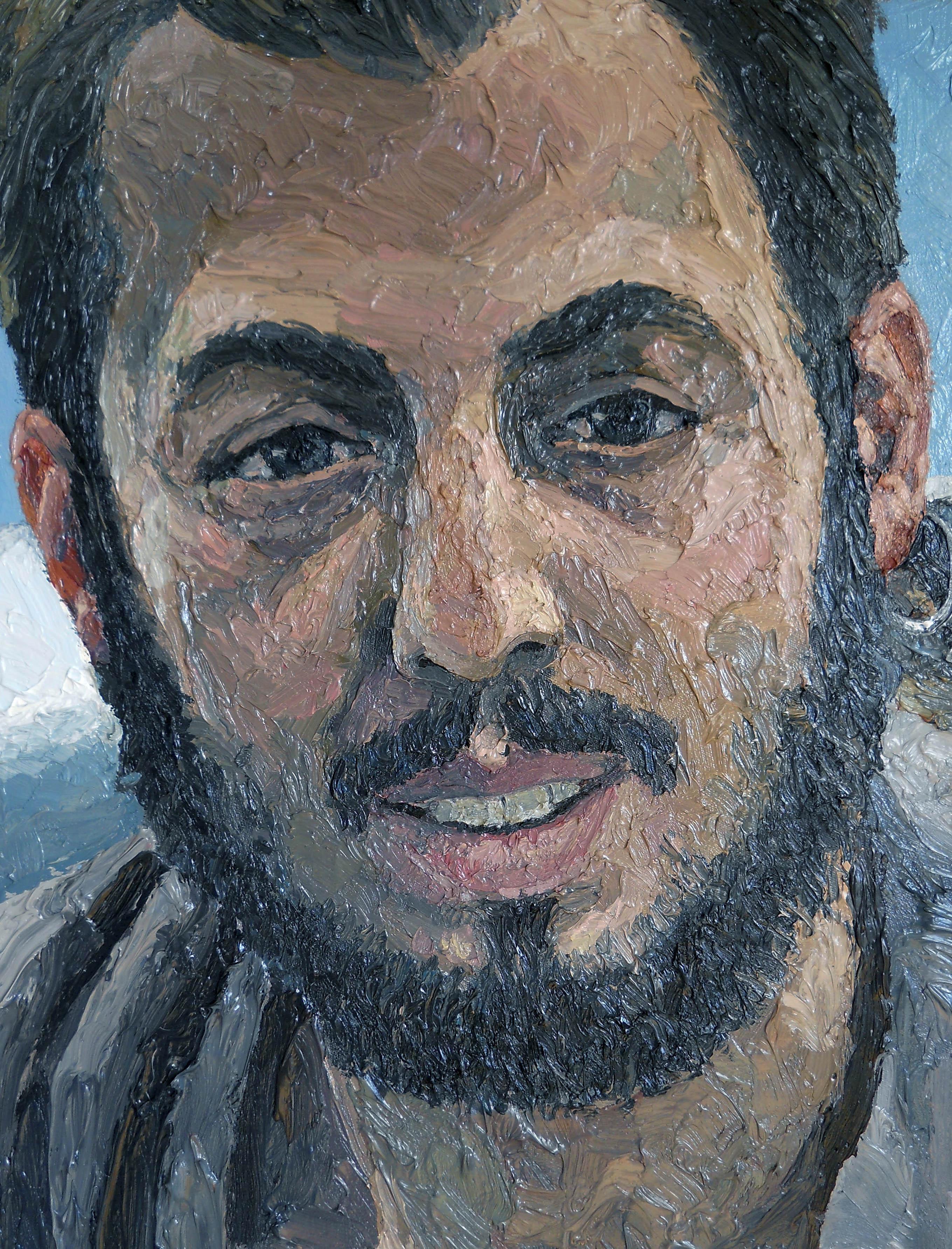 musa ali kösetorunu portrait thick oil painting