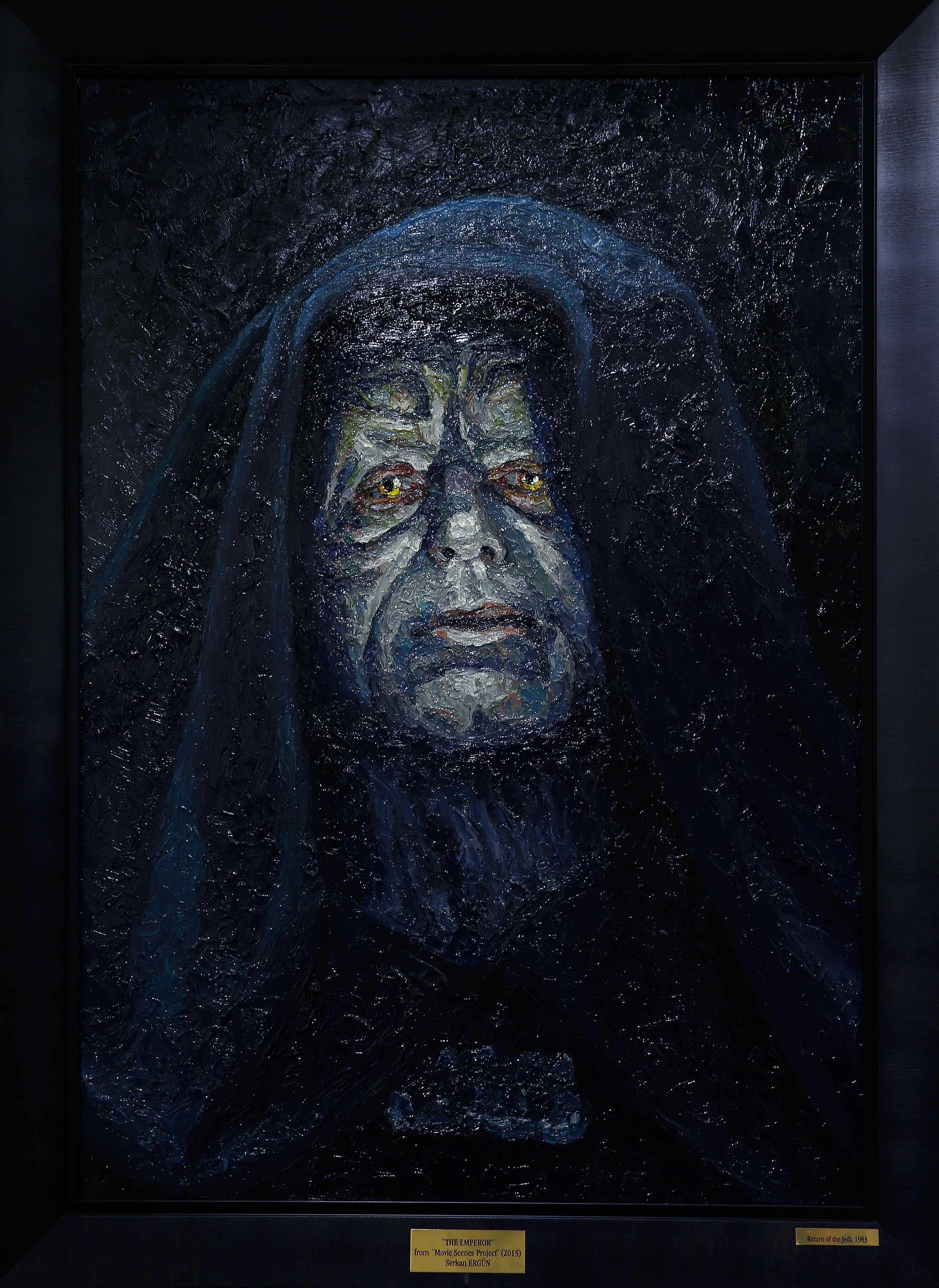 emperor darth sidious oil painting portrait
