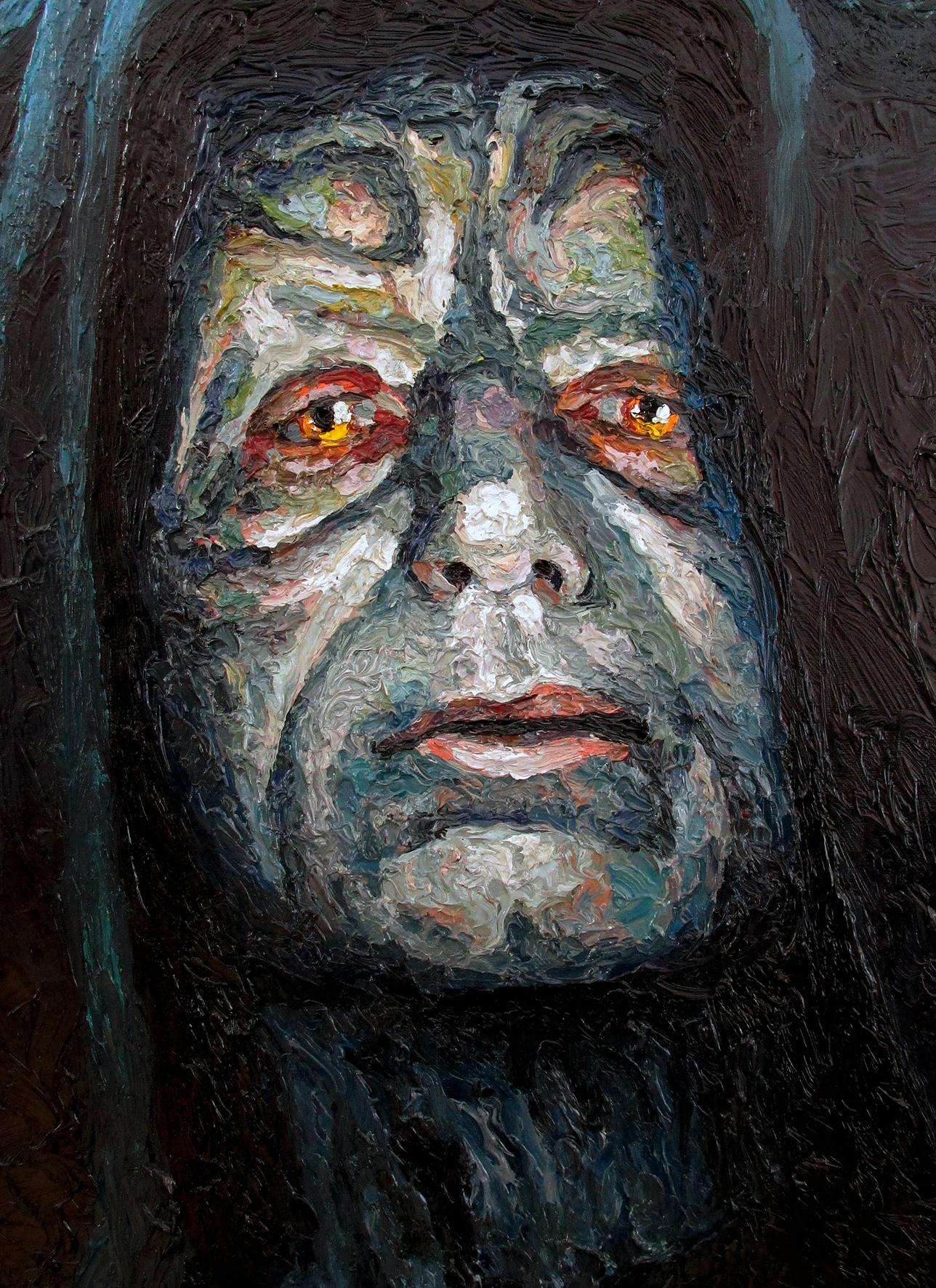 emperor palpatine darth sidious oil painting