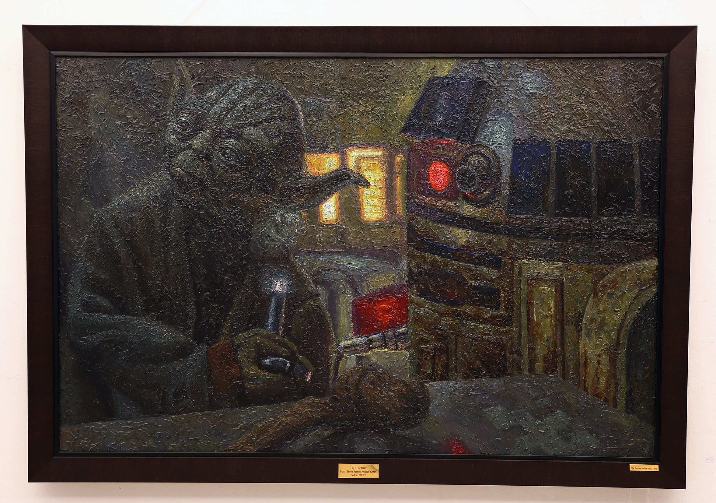 yoda in degobah oil painting