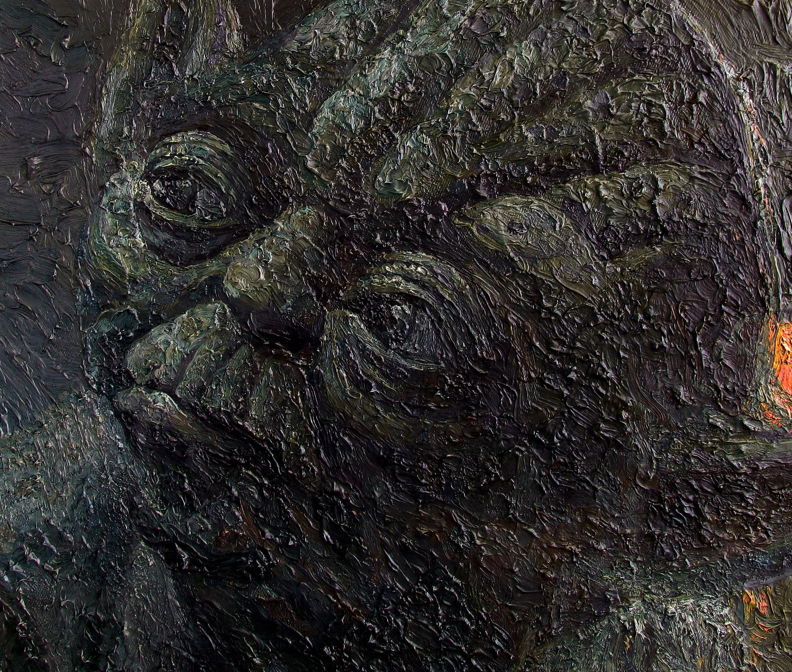 yoda oil painting by serkan ergun