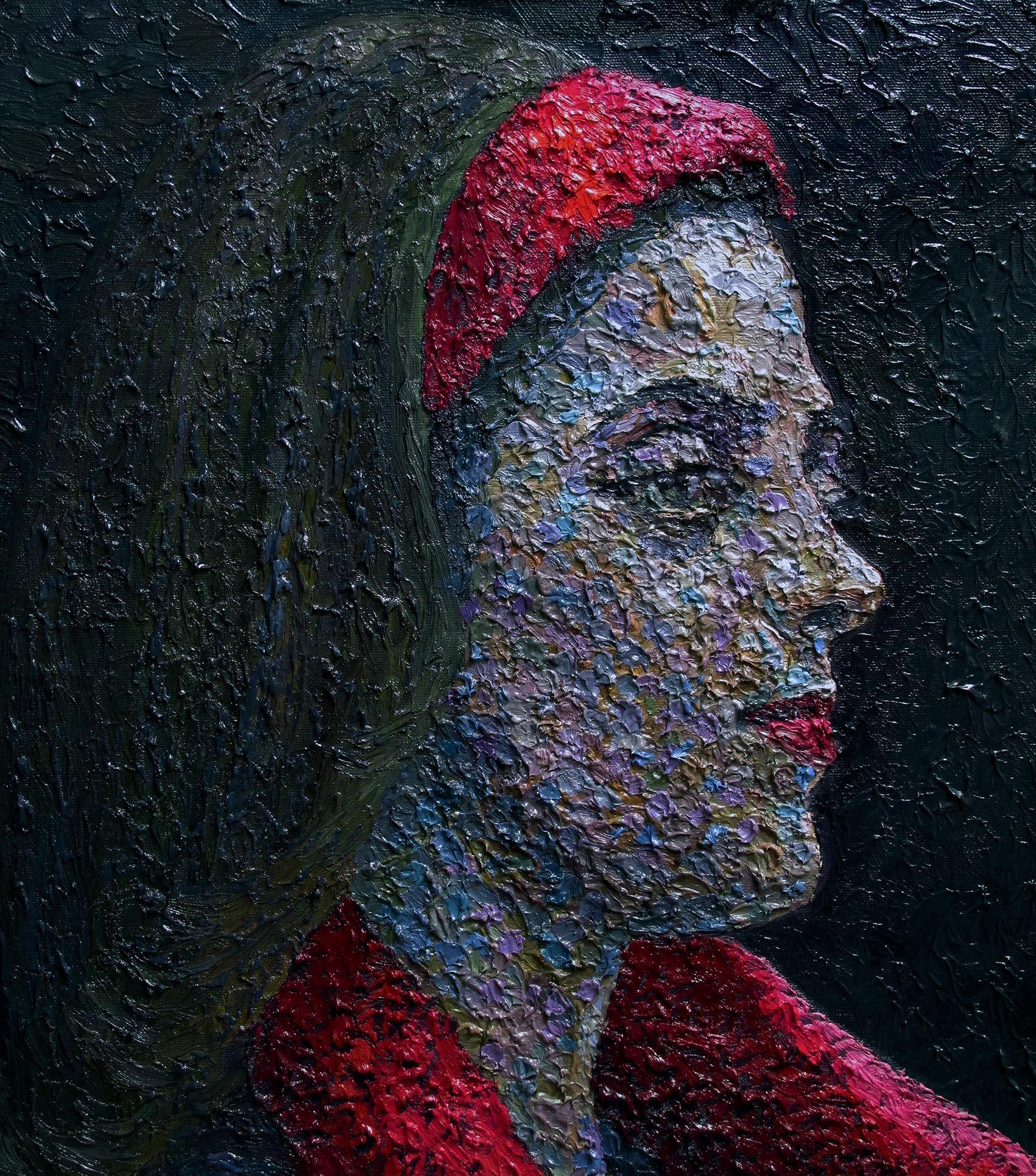 Girl in red bandana by serkan ergun