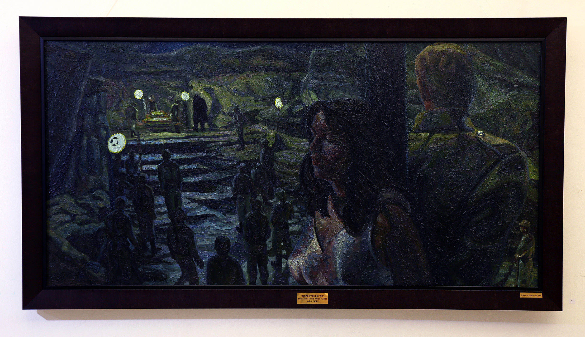 indiana jones holy ark oil painting