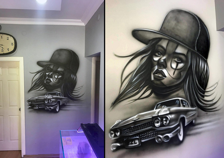 serkan ergun airbrush duvar resmi mural