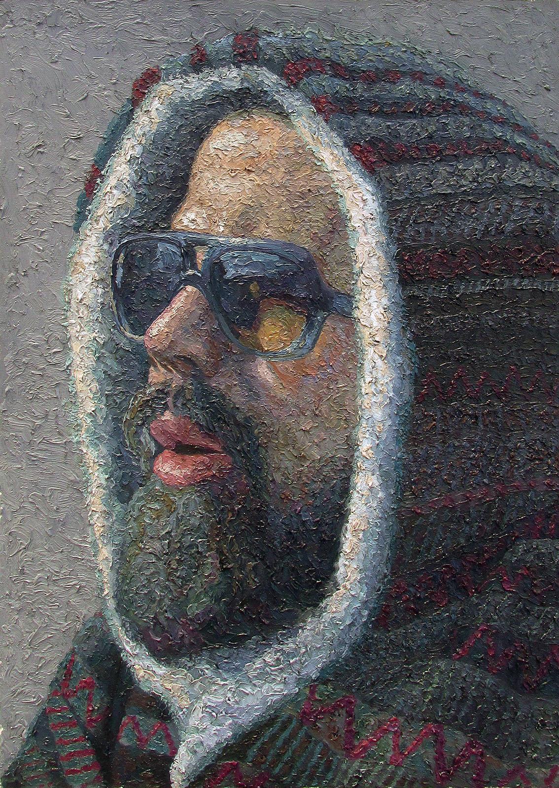 serkan ergun boy with hoodie portrait oil painting